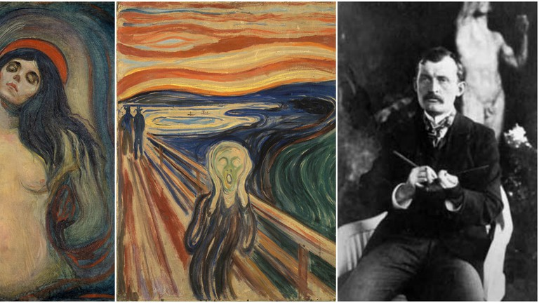 """""""Madonna"""", """"The Scream"""" and portrait of Munch"""