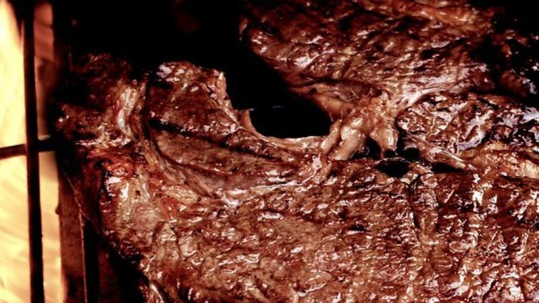 A well done steak