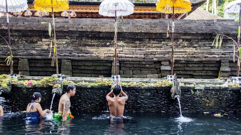 Bathing at Tirta Empul Temple