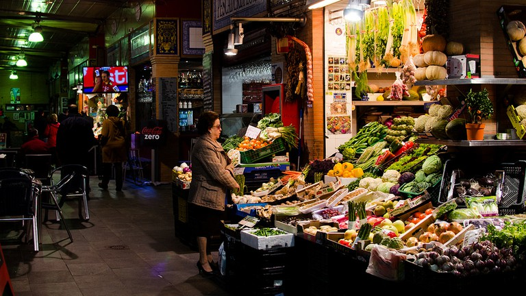 Colour and local life at Mercado de Triana