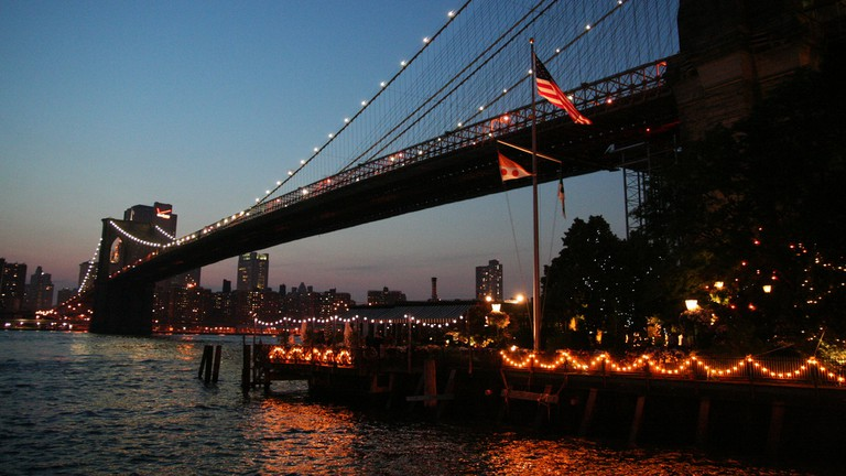 Brooklyn Bridge and The River Cafe
