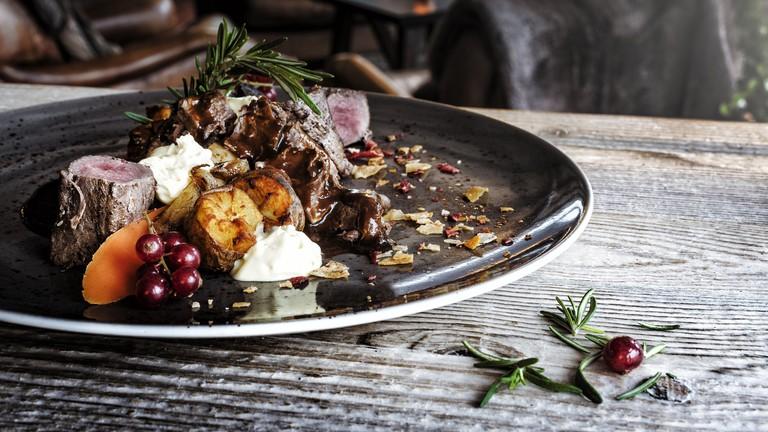 Reindeer and arctic vegetables at Arctic Boulevard