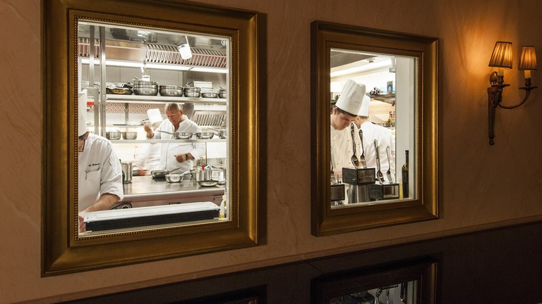 Award-winning Chef Peter Knogl and his team at work at the Cheval Blanc