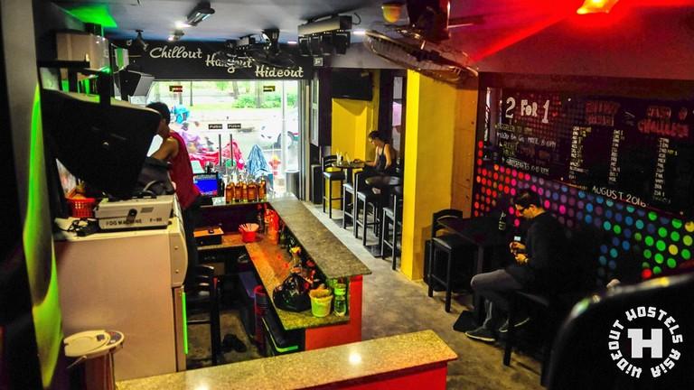 Bar at Hideout Hostels Asia - Saigon | Courtesy of Hideout Hostels Asia