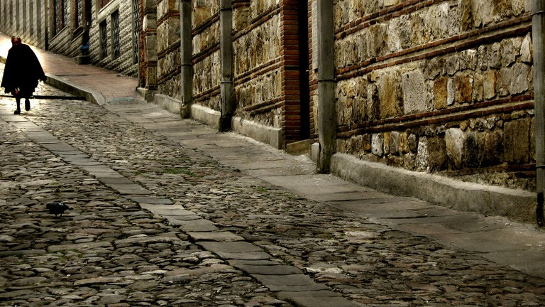 The cobbled streets of old Bogota where Garcia Marquez lived and worked