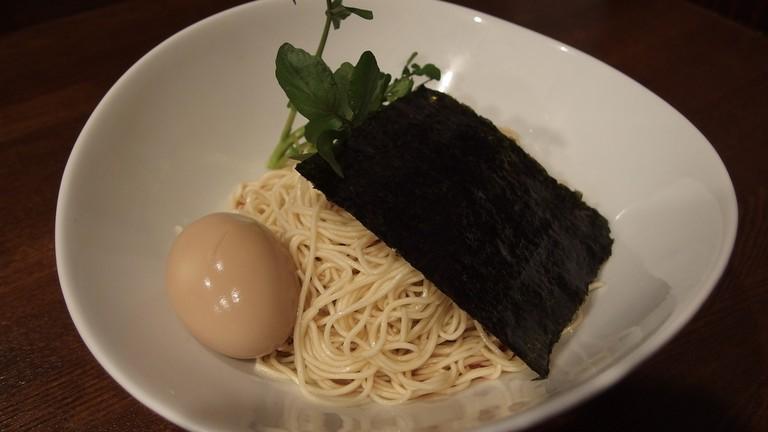 Tsukemen, dipping ramen, at Nakiryu
