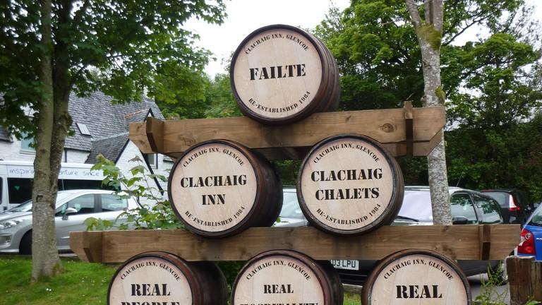 Clachaig Barrel Sign