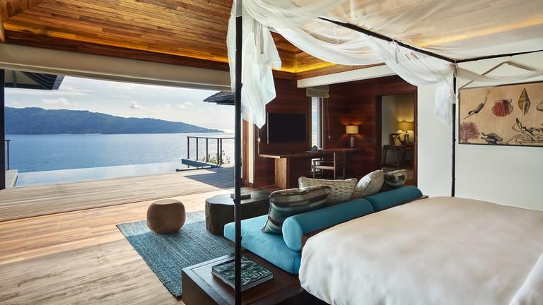 Top honeymoon hotels in Seychelles, six senses Zil Pasyon