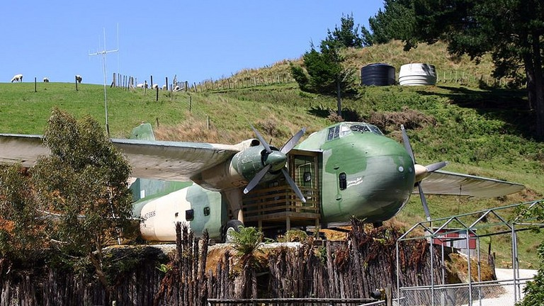 Bristol Freighter Airplane Unit at Woodlyn Park, Waitomo