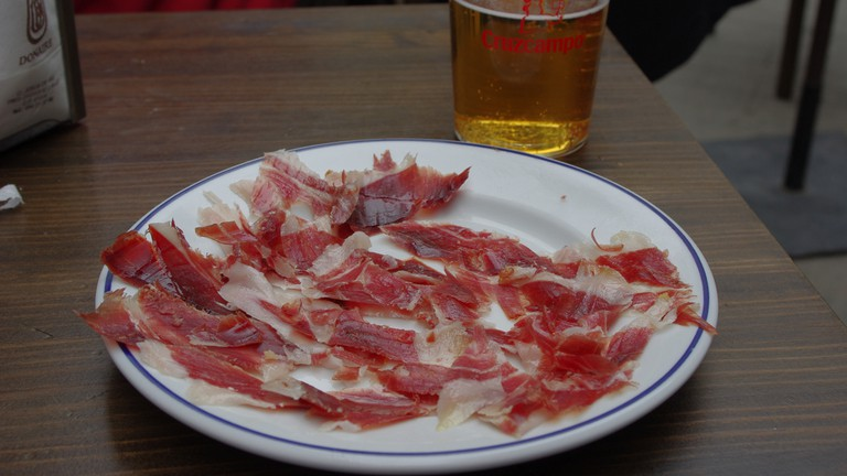 A plate of Jamon Ibérico