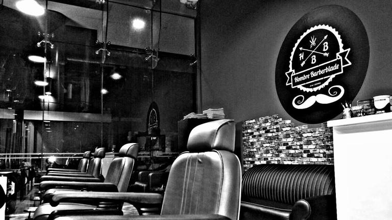 Interior of Hombre Barberblade