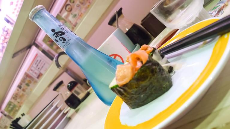 Sushi at Genki Sushi
