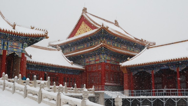 The Forbidden City in Snow