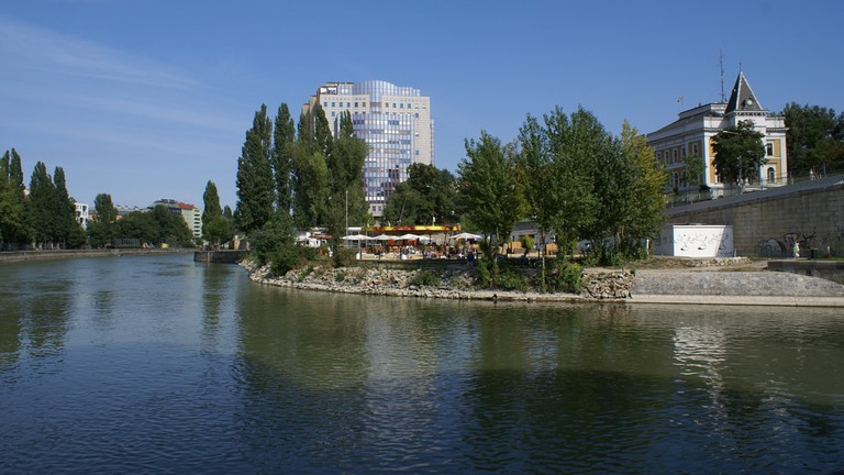 View of the bar from the Danube