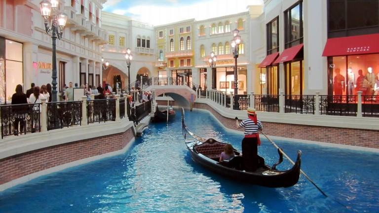 Venetian Gondolas in Las Vegas