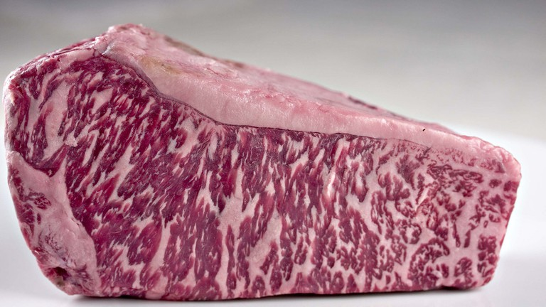 The tell-tale marbling of Wagyu beef © H. Alexander Talbot