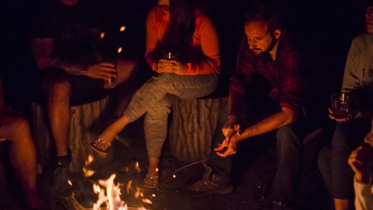 Campfire stories at The Brampton