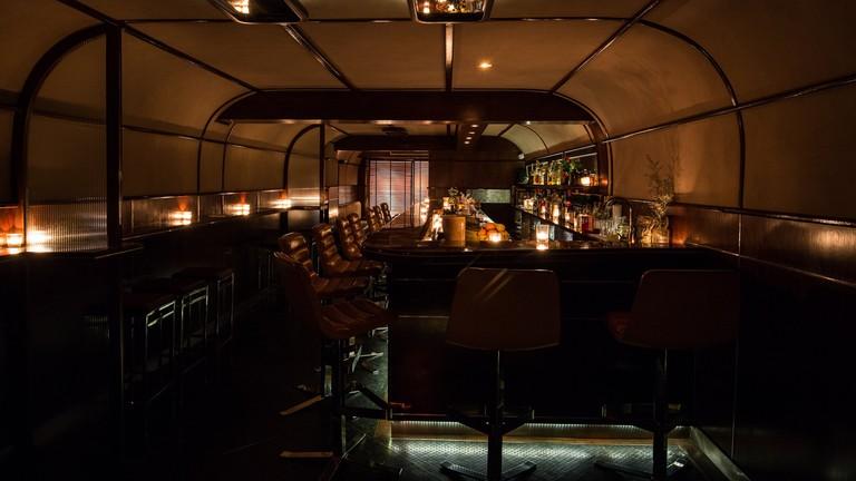 Interior of Q&A Bar