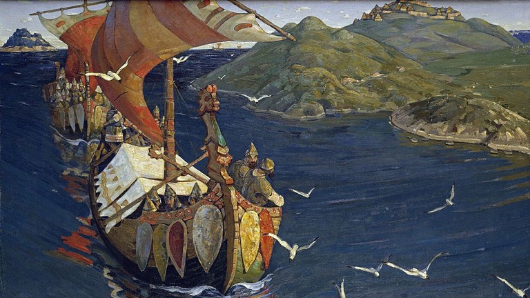 Nicholas Roerich's Guests from Overseas