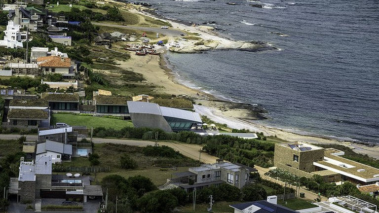 Aerial view of Jose Ignacio, Uruguay