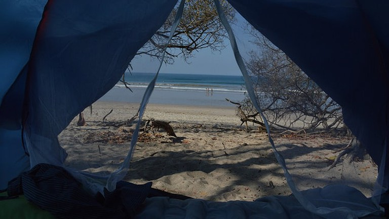 Camping on the beach in Uruguay