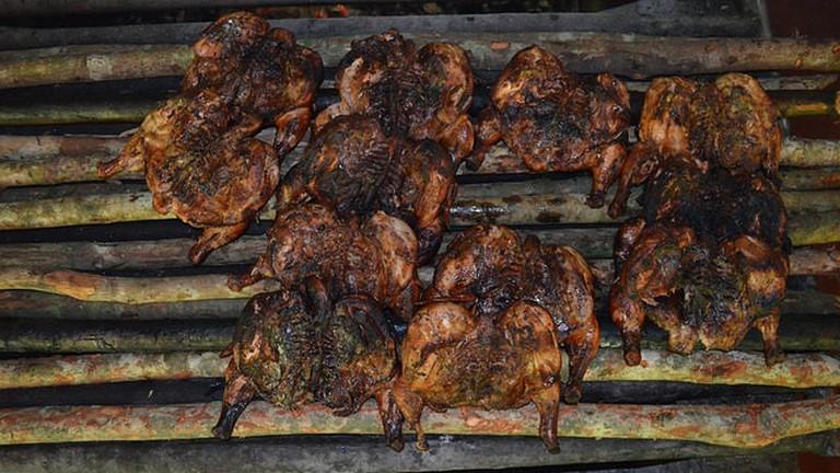 Jerk Chicken, Pepperwood, Jamaica