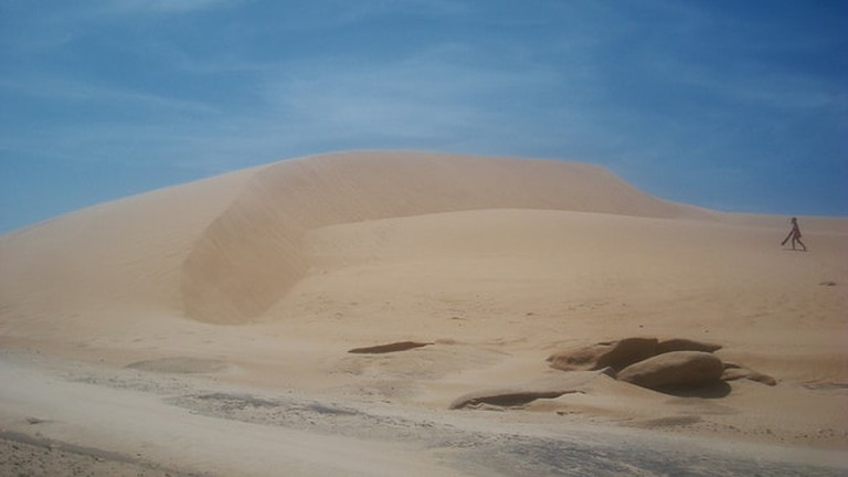 Sand dunes between Valizas and Cabo Polonio, Uruguay