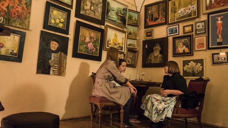 A cafe for art lovers