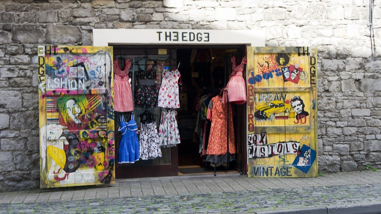 A stall in the Milk Market, Limerick