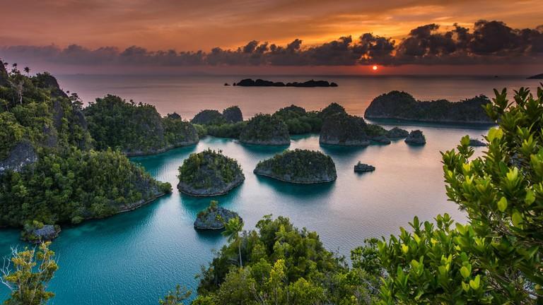 Sunset in Pianemo, Raja Ampat