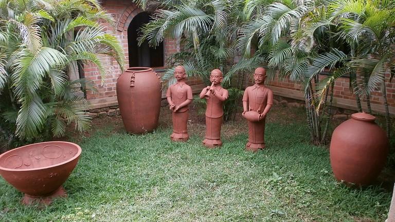 A pottery art installation at DakshinaChitra Heritage Village in Chennai