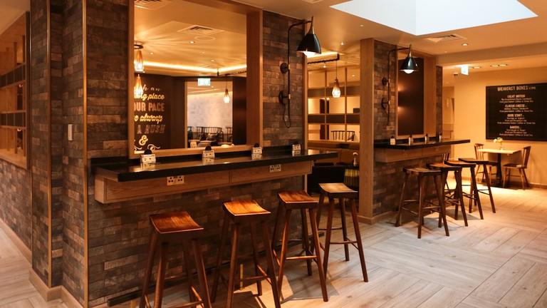Breakfast bar at hub by Premier Inn London Spitalfields