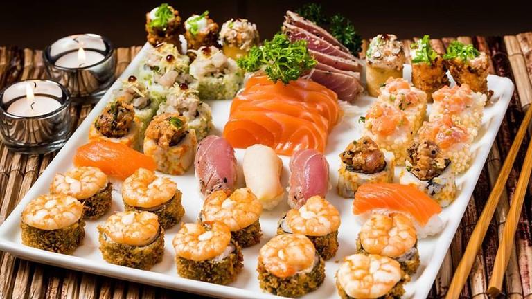 Sushi platter at Restaurante Manekineko   (c) Restaurante Manekineko Ipanema