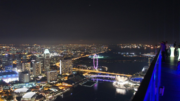 View of the Singapore skyline from 1-Altitude