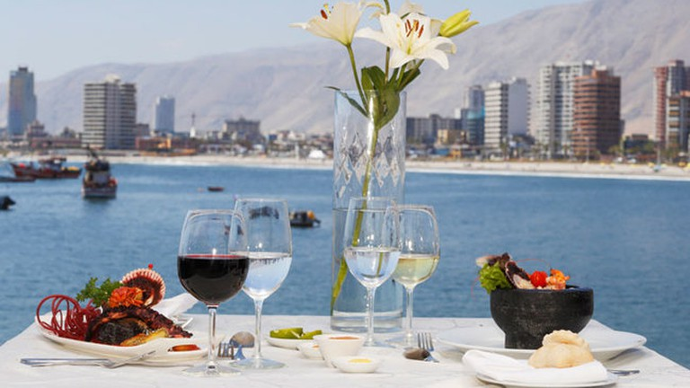 Cavancha View from El Terrado Restaurant