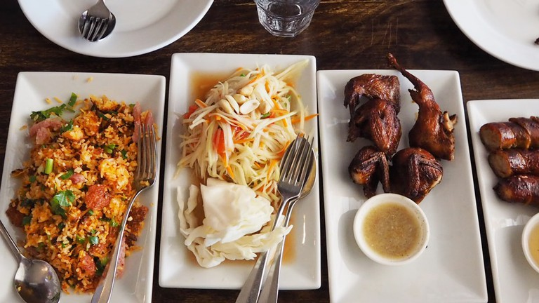 Dinner | Courtesy of Papaya Grill