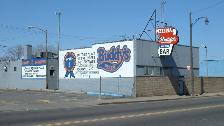 The original Buddy's at the corner of 6 Mile Road and Conant Street