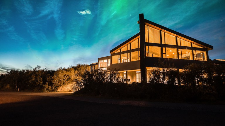 Admire the norther lights Courtesy of Hotel Húsafell