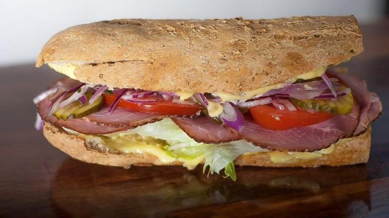 Pastrami sandwich | Courtesy of Prince Lunchbar