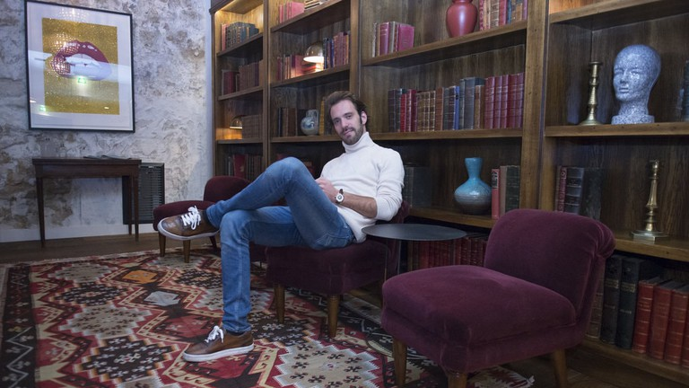 Jean-Éric Vergne at the Hoxton Hotel in Paris