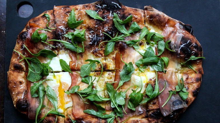 Serious Pie and Biscuit Prosciutto Pizza | Photo Credit, Tom Douglas Seattle Kitchen