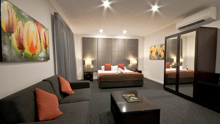 A spacious deluxe room