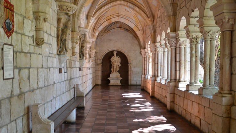 Hallway in Ancient Spanish Monastery