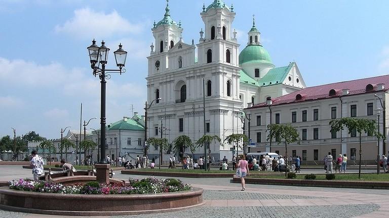 BELARUS_-_GRODNO_(Гродна)._Farny_catholic_church.