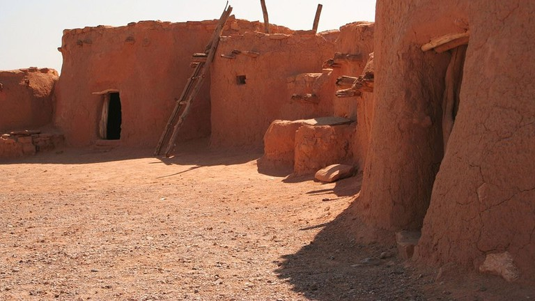 Reconstructed Anasazi pueblos at the Lost City Museum