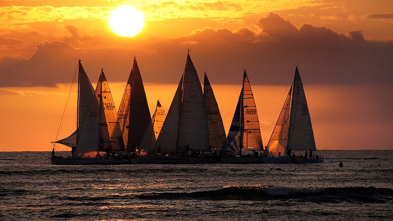 Waikiki sunset | © Bernard Spragg. NZ/Flickr