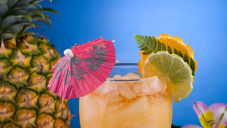 A tiki drink such as the ones served at Mahiki