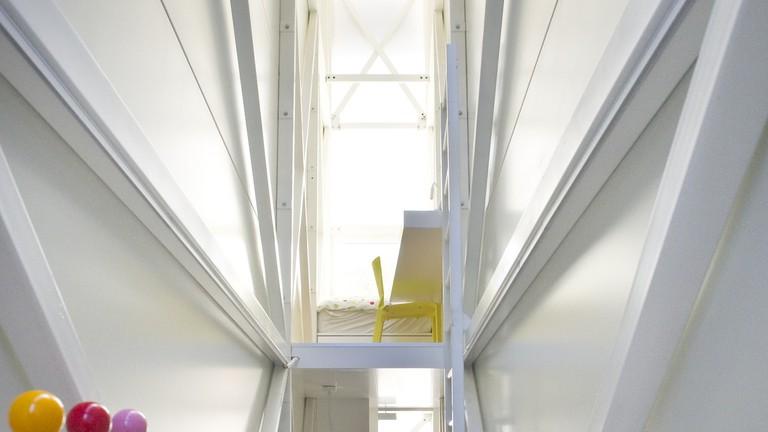 Inside The Keret House, Warsaw, Poland