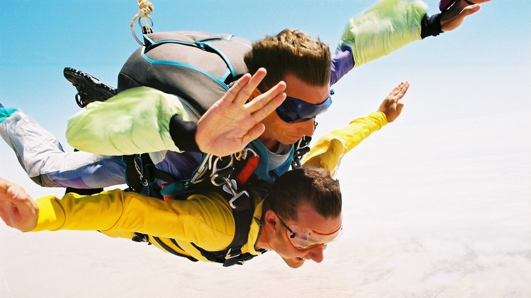 Tandem skydive over the Namib