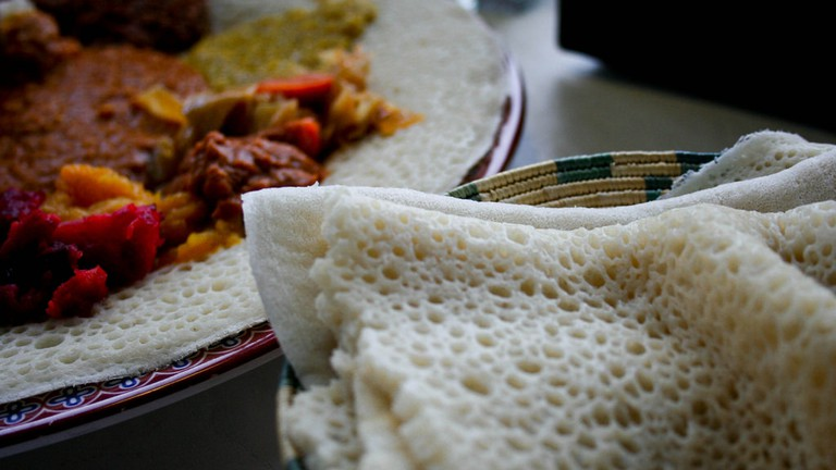 Savor flavorful Ethiopian food